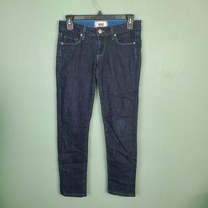 Paige Skyline Ankle Peg Dark Wash Jeans Size 24